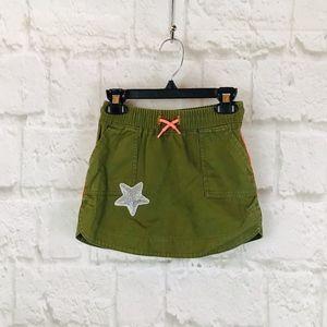 Girls Cat & Jack Green Skirt I11
